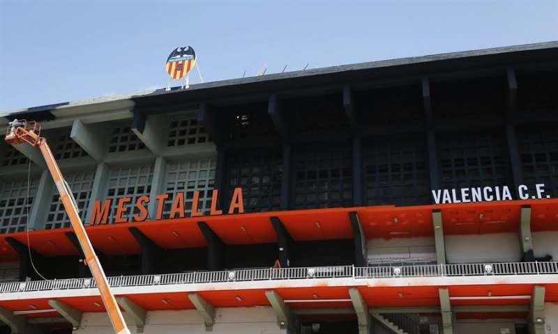 La fachada del estadio de Mestalla. EFE/Archivo