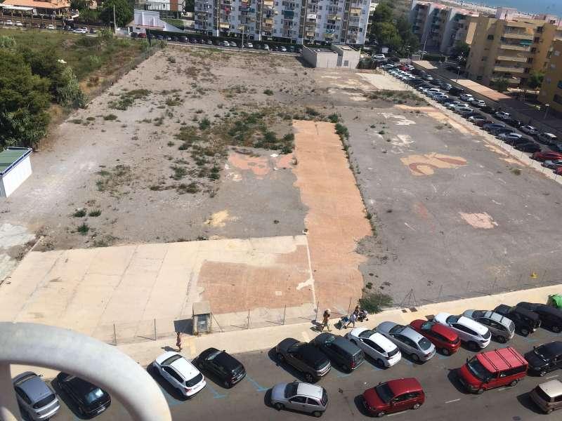 Vista aérea del aparcamiento cerrado. FOTO EPDA