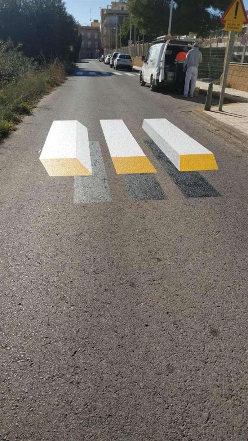 Una imagen del paso de peatones facilitada por el Consistorio de Alboraia. EFE.