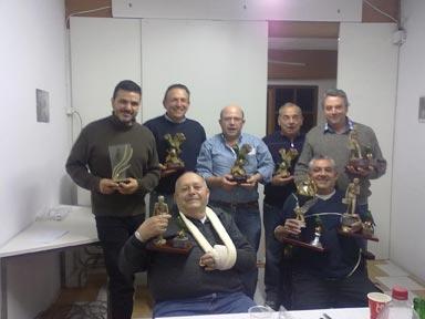 Los premiados en el concurso social celebrado el 26 y 27 de noviembre en Picanya. FOTO EPDA