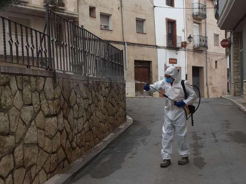 Desinfección en las calles