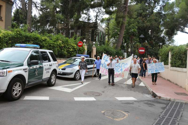Los manifestantes recorrieron varias calles