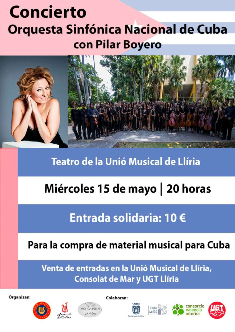 Concierto benéfico Orquesta Nacional de Cuba. / epda