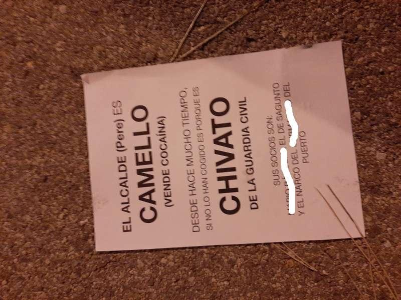 Panfleto repartido por Canet. EPDA