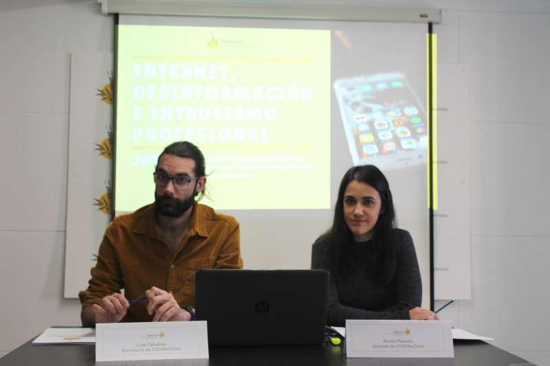 Luis Caba�as y Roc�o Planells, miembros del Colegio. -EPDA