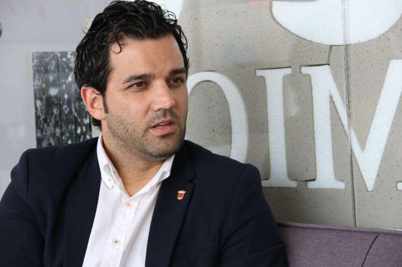Juan Antonio Sagredo, en un momento de la entrevista. / EPDA