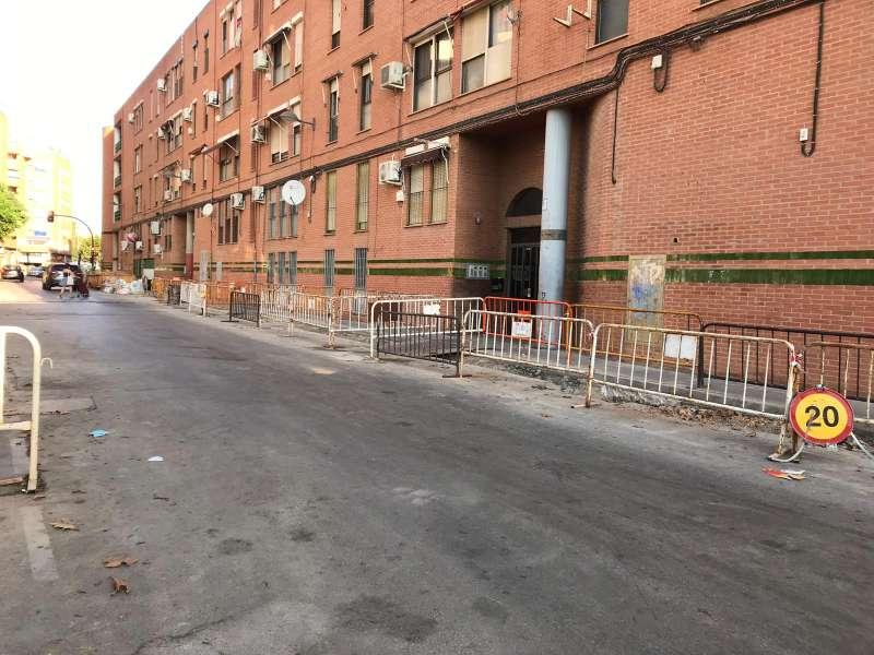 Una de las calles afectadas por las mejoras. EPDA