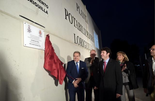 Inauguración planta potabilizadora en Loriguilla. FOTO: DIVAL