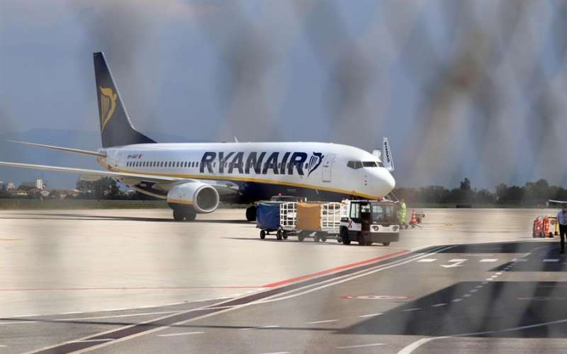Una nave de Ryanair. EFE/Archivo