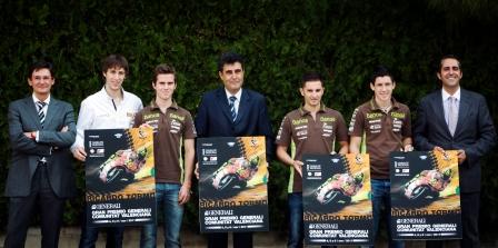 Acto de presentación de la Decimotercera Edición del Gran Premio de motociclismo de la Comunitat Valenciana. Foto EPDA