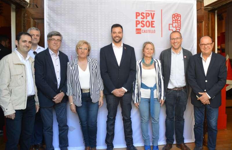 La eurodiputada socialista en la presentación de la candidatura local de Vinarós . EPDA