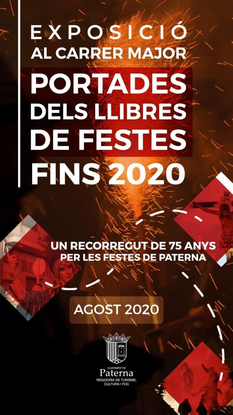Cartel Exposición portadas Libros de Fiestas./EPDA