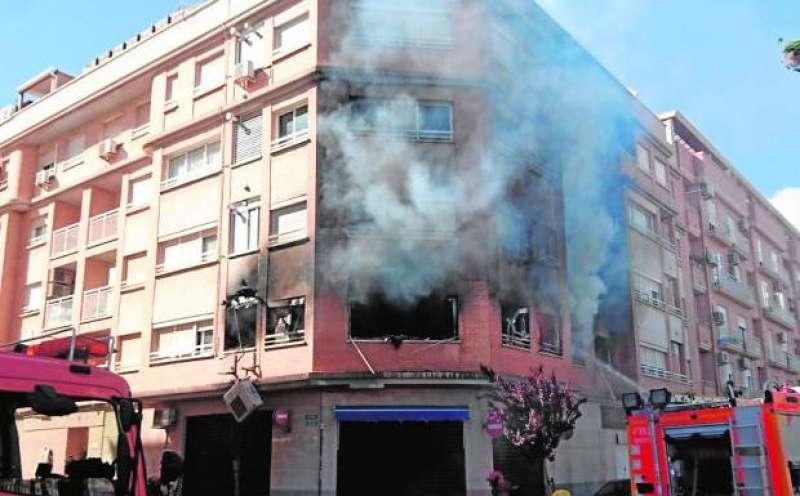 Incendio provocado en Albal
