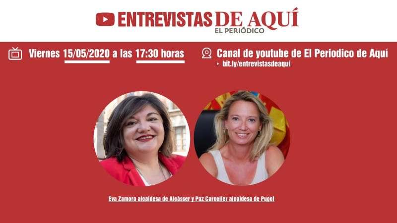 Eva Zamora y Paz Carceller. EPDA