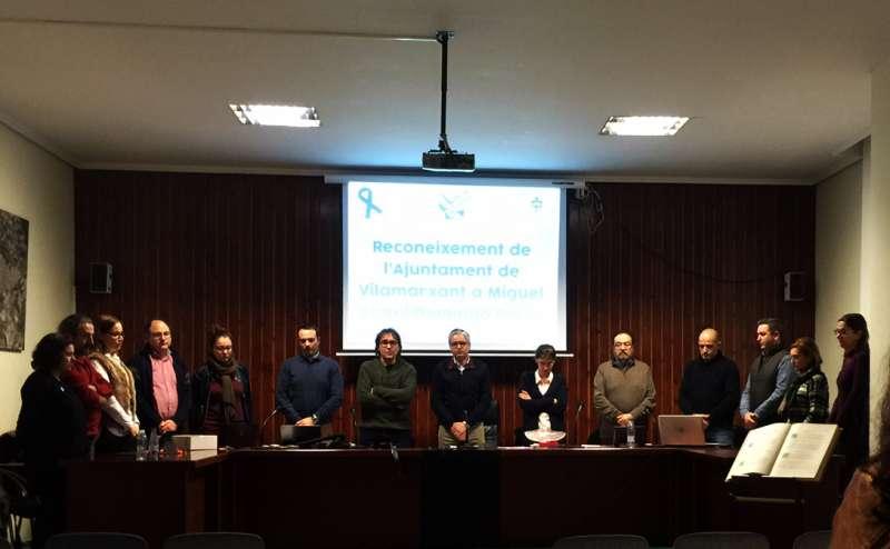 Reconeixement institucional a Miguel Ángel Domingo Pérez