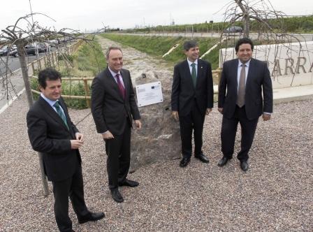 Inauguración de las obras de encauzamiento del Barranco de Fraga. Foto EPDA