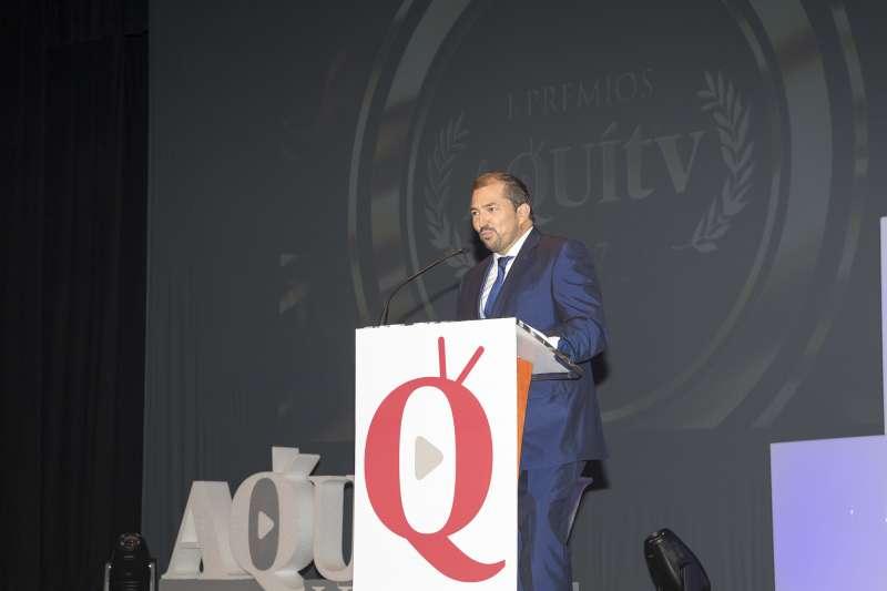 El director del grupo El Periódico de Aquí en la gala del año pasado. EPDA