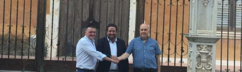 El president de la Diputación de Castellón con el alcalde de Montanejos y el portavoz del PP. EPDA