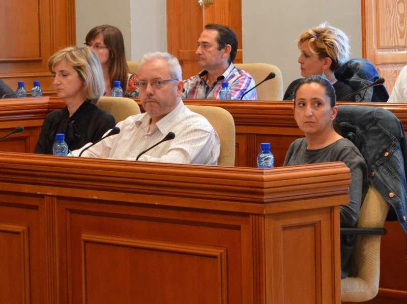 Concejales de Ciudadanos en el pleno de Burjassot. EPDA