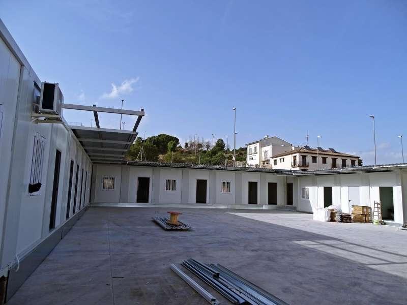 La parcela elegida, actualmente con aula prefabricadas
