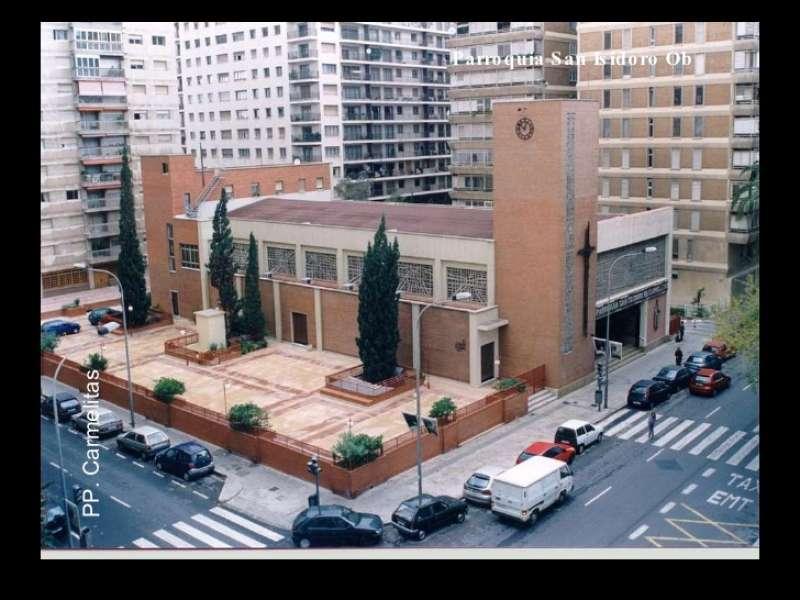 Imagen aérea de la iglesia.