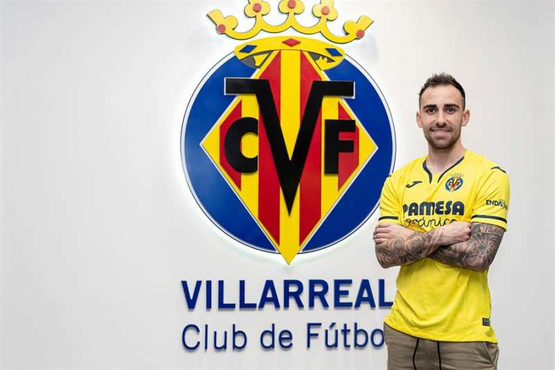El delantero internacional español paco Alcácer. Foto cedida por el Villarreal CF