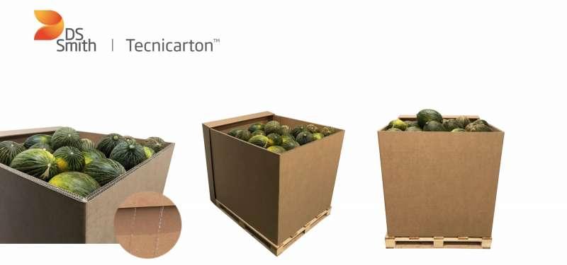 Imagen del embalaje reutilizable con tratamiento hidrófugo para el sector de la alimentación. -EPDA