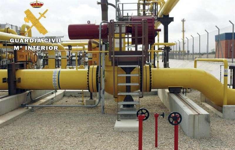 Instalaciones de la plataforma del almacén subterráneo de gas natural Castor. EFE/Archivo