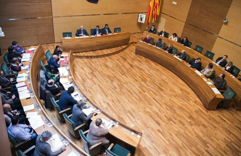 El Pleno de la Diputación de Valencia.