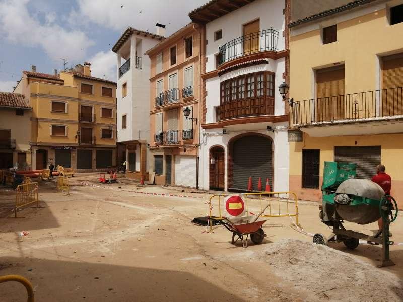 Obras Reurbanización Plaza Miguel Ballesteros Utiel