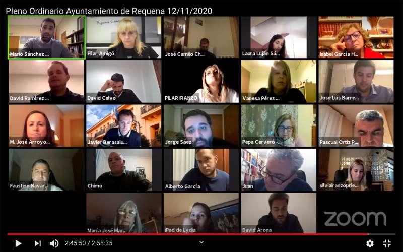 Pleno realizado por videoconferencia del mes de noviembre