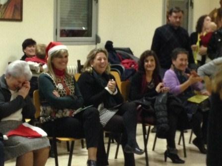 La consellera de Bienestar Social durante su visita al Centro Luis Amigó de Massamagrell. EPDA