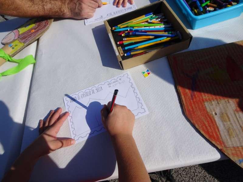 Una de las actividades del proyecto HA del Castillo -EPDA