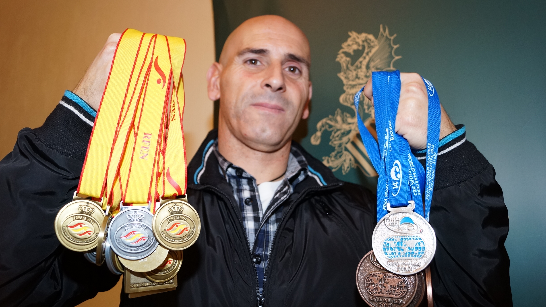Victor Manuel Moreno Vidal es vecino de Valencia y pertenece al Club de Natación Piscis de Mislata. FOTO: EPDA