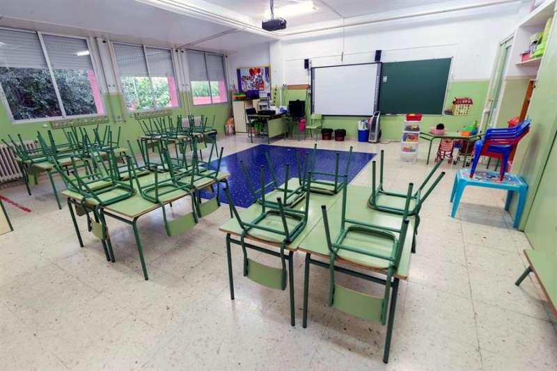 Interior de un aula vacía en un colegio público. - EFE