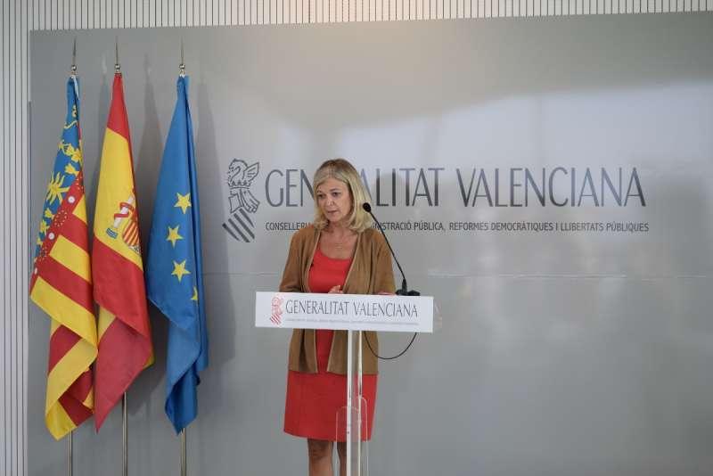 La consellera de Justicia, Administración Pública, Reformas Democráticas y Libertades Públicas, Gabriela Bravo