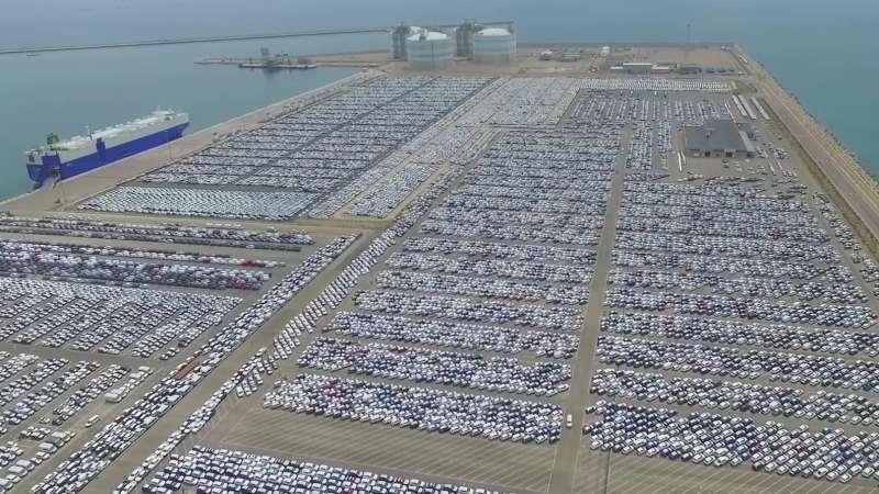 Foto aérea del puerto de Sagunt.