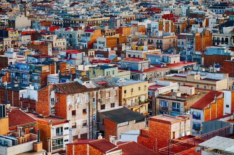 Imagen desde un dron de viviendas. -EPDA