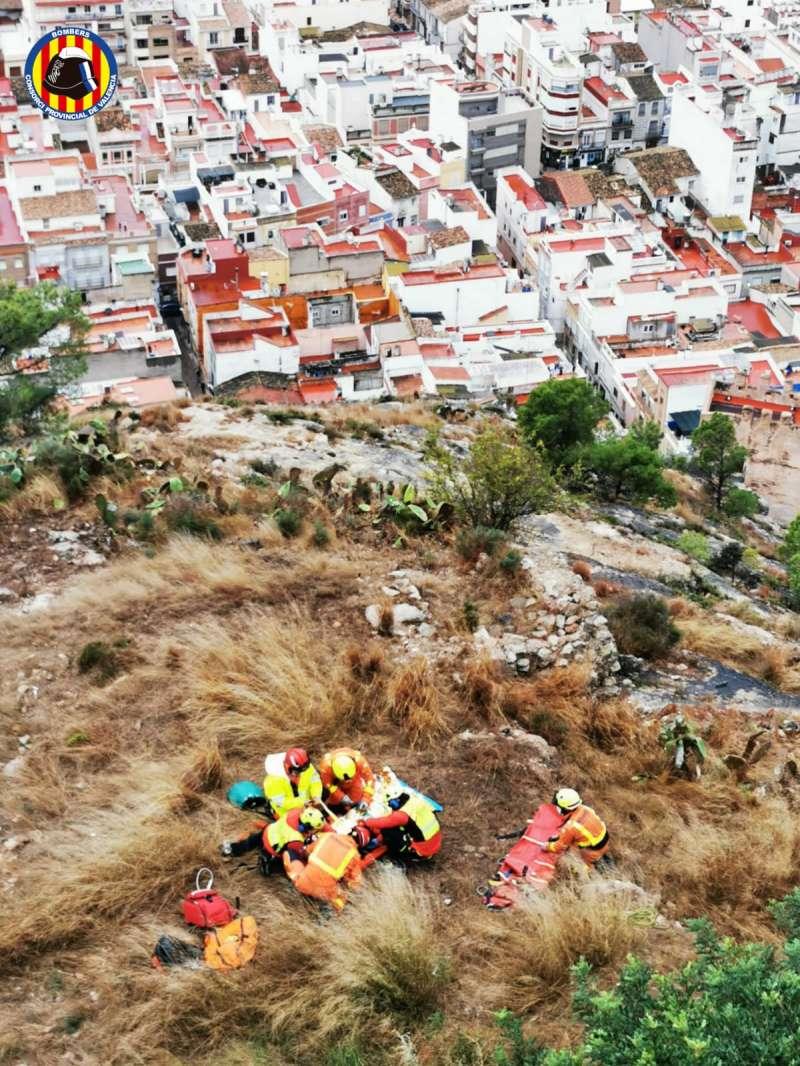 Foto del rescat. EPDA.