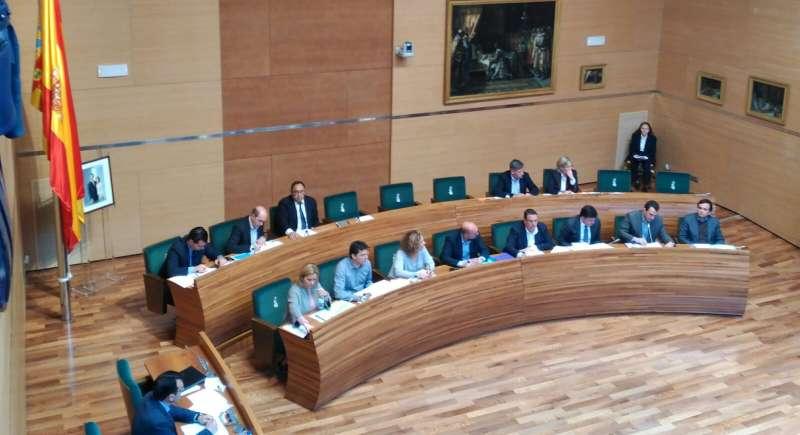 Momento del Pleno de Diputación de Valencia