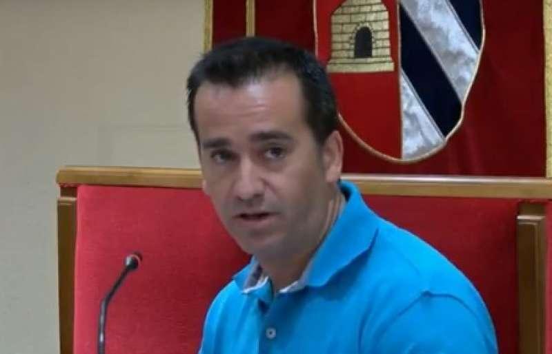 Javier Gil al ple de Mislata. EPDA