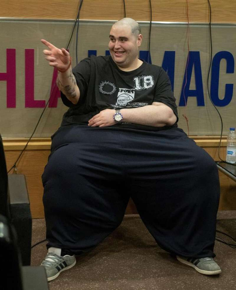 Teo Rodríguez, el joven valenciano de 36 años con obesidad mórbida que llegó a pesar 400 kilos. EFE