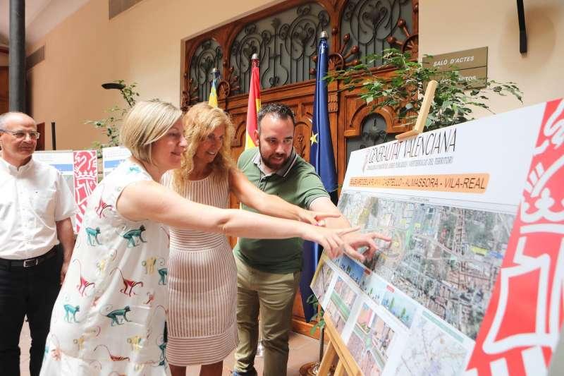 Salvador presenta las tres fases del Bulevar de la Plana que afectan a Castellón con un presupuesto de un millón de euros