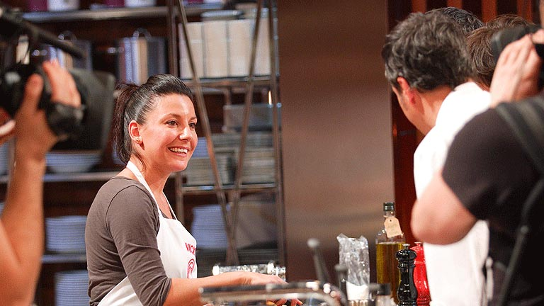 Vicky durante el concurso. FOTO TVE