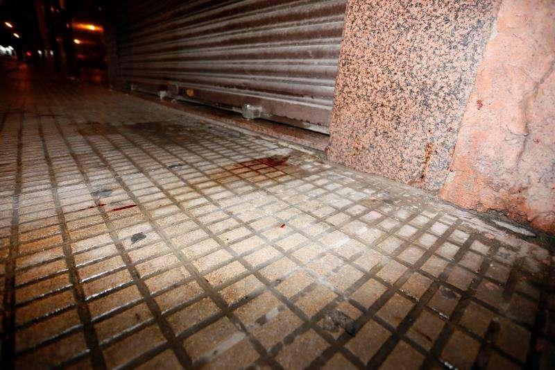 Escenario del crimen, cerca de un pub del barrio de Villafranqueza de Alicante. EFE/Archivo