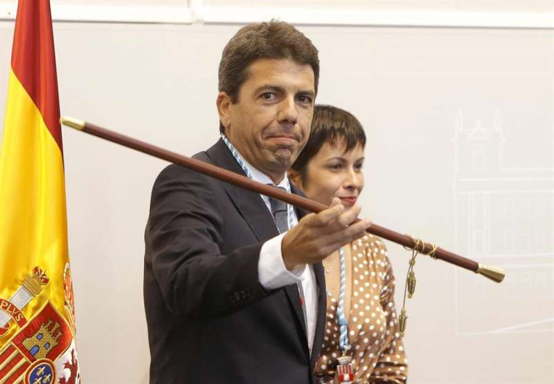 El presidente de la Diputación de Alicante, en su toma de posesión.- EFE