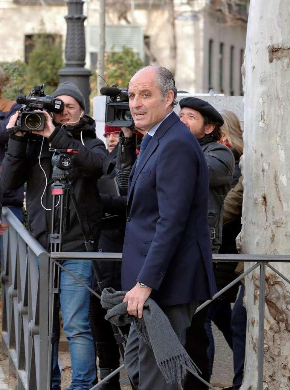 El expresidente valenciano Francisco Camps a su llegada a la Audiencia Nacional. EFE
