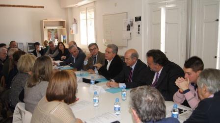 Reunión del vicepresidente de la Diputación con los 15 responsables pedáneos en el municipio de Massarrojos. Foto: DIVAL