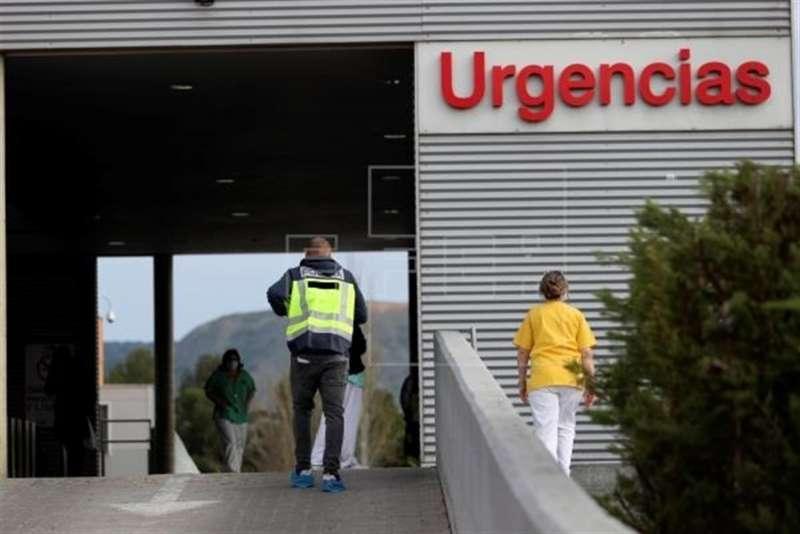Entrada a Urgencias de un hospital.