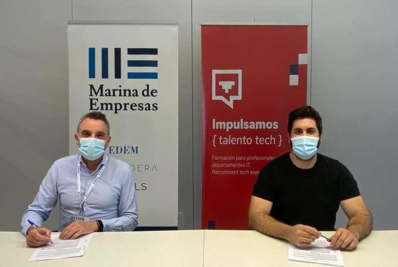 Firma del acuerdo con Lanzadera. EPDA